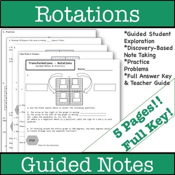 Rotations Guided Notes - Transformations