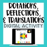 Rotations, Reflections, & Translations - Digital Pattern Blocks Activity