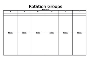 Rotations Schedule