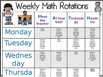 Rotations Schedule EDITABLE