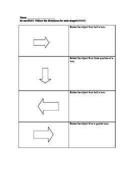 Rotations-Set II- Math Geometry