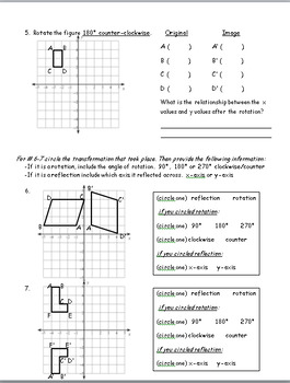 Rotations - Transformation in 8th Grade Geometry