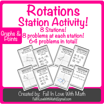 Rotations (Transformations) Station Activity!