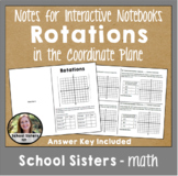 Rotations in the Coordinate Plane for Interactive Notebooks