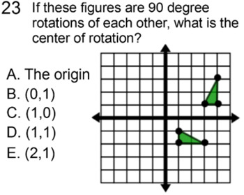 Rotations not Centered at (0,0) and Reflections not the Axes for Power Point