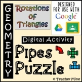 Rotations of Triangles - Pipes Puzzle Digital Activity