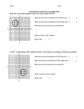 Rotations on a Coordinate Plane
