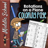 ROTATIONS ON A COORDINATE PLANE MATH COLOR BY NUMBER, QUIZ