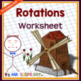 Rotations on the Coordinate Plane (Transformation Worksheet)