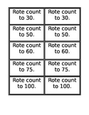 Rote Counting Cards