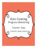 Rote Counting Progress Monitoring Form