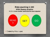 Rote Counting fluency practice