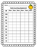 Rote Counting to 100 assessment/Math IEP assessment