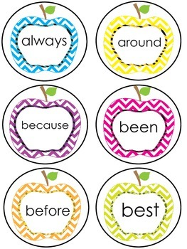 Rotten Apple Dolch Second Grade Sight Word Game
