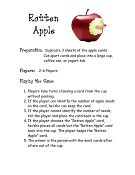 Rotten Apple Numbers Game