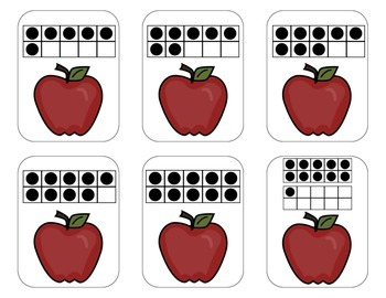 Rotten Apples! ~ 3 Math Center Games {Numerals, Ten-Frames & Subitizing}