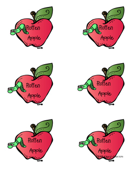 Rotten Apples - First 100 Fry Words