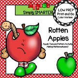 Rotten Apples:  LOW PREP Apple Themed Pattern Activity