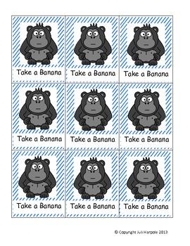 First Grade Sight Word Card Game - Rotten Bananas