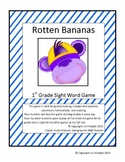 First Grade Sight Word Card Game - Rotten Bananas
