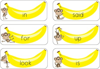 Dolch Pre-Primer Sight Word Game {Rotten Bananas!}