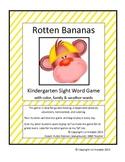 Kindergarten Sight Word Game Rotten Bananas