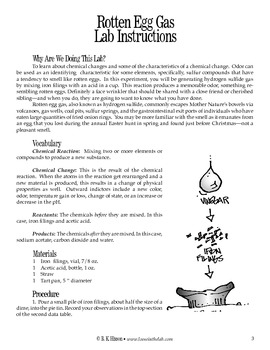 Rotten Egg Gas (Chemistry)