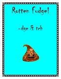 Rotten Fudge! Trigraphs - dge & -tch Phonics Word Reading Game