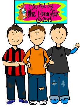 Rotten Kids clip art for Personal or Commerical Use