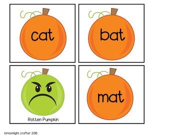 Rotten Pumpkin CVC Game:  Reading Short a CVC Words