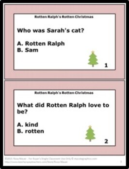 Rotten Ralph's Rotten Christmas Literacy Unit