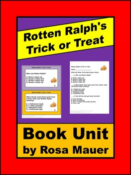 Rotten Ralph's Trick or Treat Literacy Activities