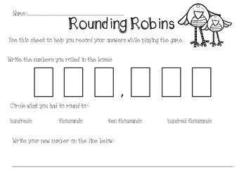 Rouding Robins - Rounding Activity