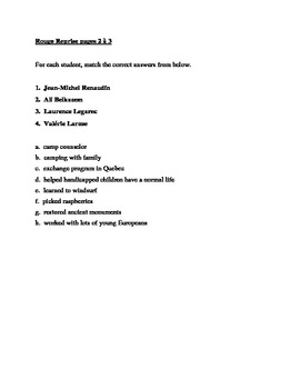 Rouge Reprise pages 2-3 Worksheet