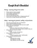 Rough Draft Revising and Editing Checklist