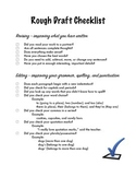 Rough Draft Revising and Editing Checklist