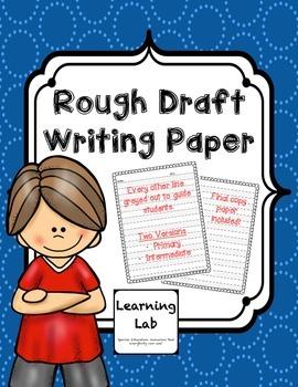 #spedgivesthanks Rough Draft Writing Paper