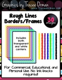 Rough Line Border Clip Art for Commercial Use