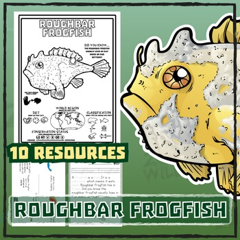 Roughbar Frogfish -- 10 Resources -- Coloring Pages, Readi