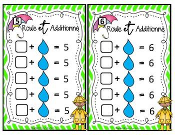 Roule et additionne - calcul mental / mental math