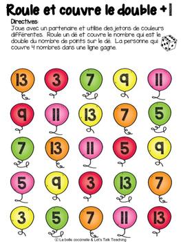 Roule et couvre le double, double +1, -1, +2, -2: 85 Doubles Dice Games