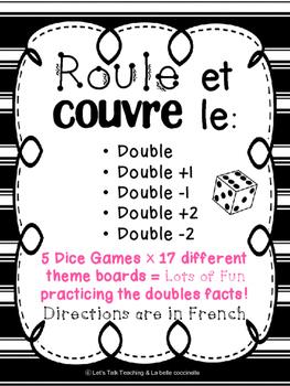 Roule et couvre le double, double +1, -1, +2, -2: 85 Doubl