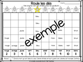 Roule les dés - Les couleurs - Roll The Dice Game - a version of Race To The Top