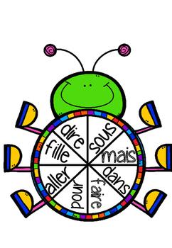 Roulette mots fréquents - Un insecte! (french sight words)