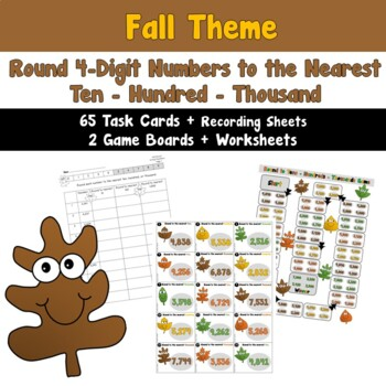 Round 4-Digit Numbers to Nearest Ten, Hundred, or Thousand