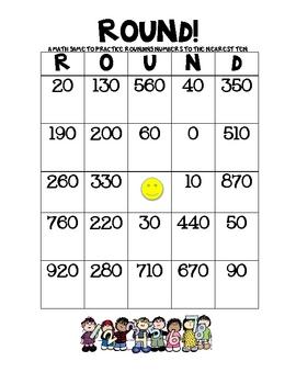 Round!  A Bingo Game to Practice Rounding