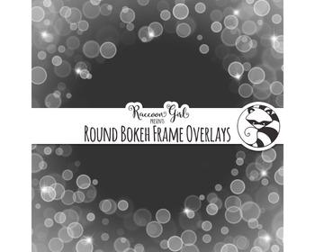 Round Bokeh Frame Overlay Clip Art Set