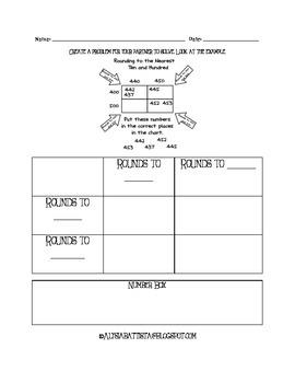 Carroll Diagram Rounding Boxes Worksheet