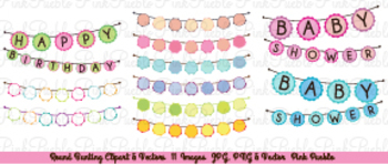 Round Bunting Flag Clipart Clip Art