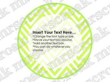 Bulletin Board Headers: Round Chevron Variety (editable)
